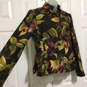 Linda Allard Ellen Tracy Jacket Blazer 8 Black